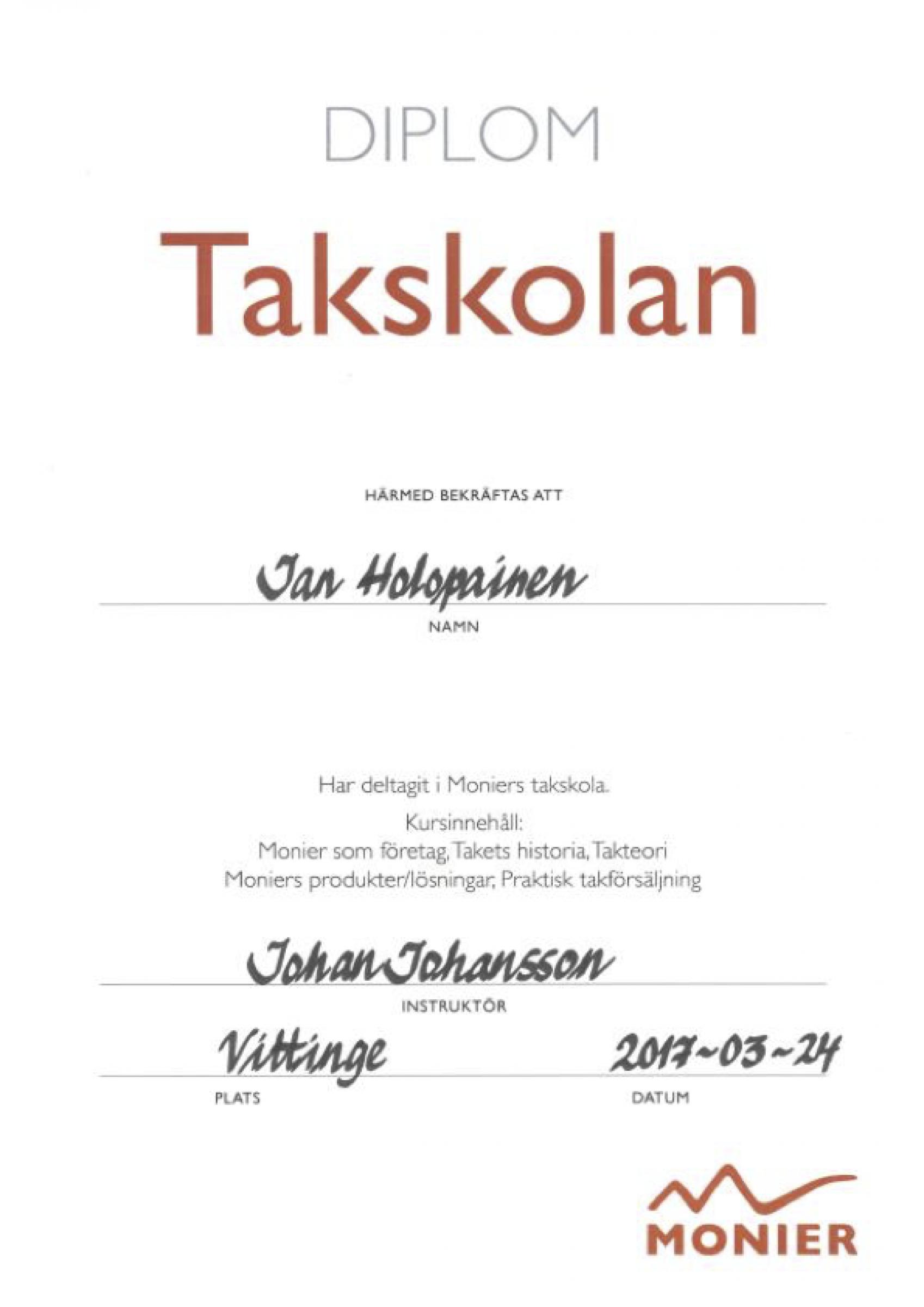 Våra certifikat och diplom